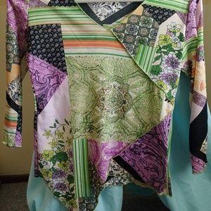 jessica max Tops - Asymmetrical dress shirt